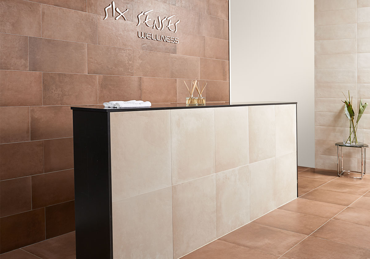 Dressing up living spaces with ceramic tiles keraben contract tiles are not just suitable for use on walls and floors ceramic materials offer such broad ranging potential that tiles can also be used on furniture to dailygadgetfo Image collections